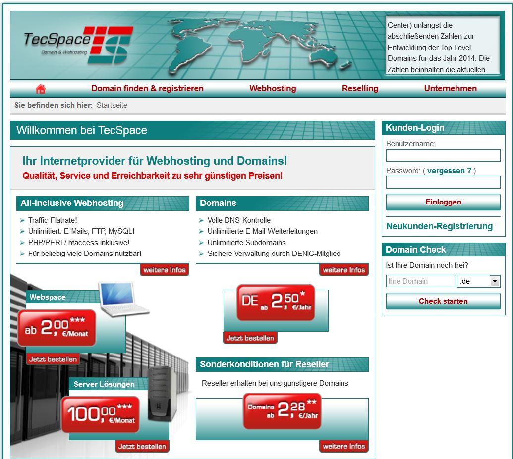 Tecspace - Domains & Webhosting