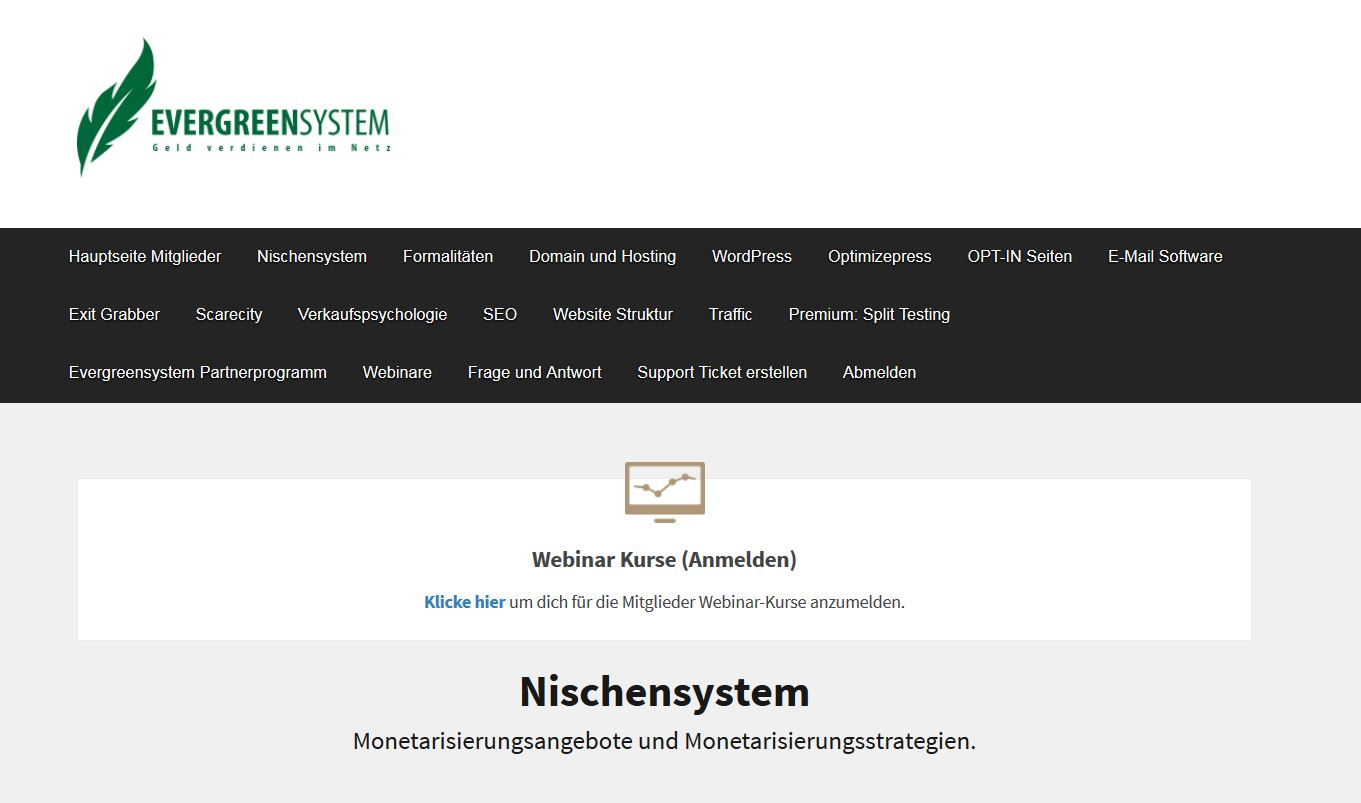 Evergreensystem 2.0 E-Learning-Kurs